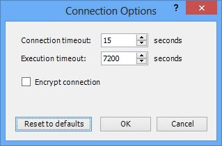How can I increase the timeout for connecting to my SQL Server?
